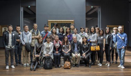 Gruppenfoto der Teilnehmer der Frühjahrsakademie im Musée d'Orsay. <br /> ©Sophie Boegly/Musée d'Orsay